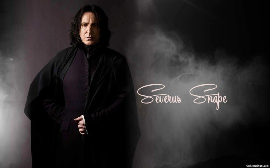 Alan Rickman portrays Snape in the film, he did an awesome job.